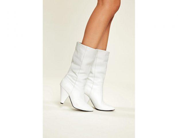 Stivali in pelle bianca
