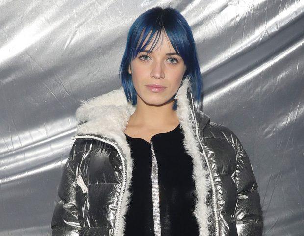 Valentina Pegorer e il suo look blu cobalto. (Photo credit: Getty Images)