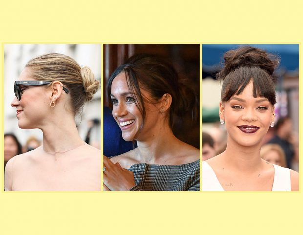 Da Meghan Markle a Chiara Ferragni a Rihanna: star e influencer amano chignon e top knot! Sfoglia la gallery e scopri tutti i loro look! (Photo credit: Getty Images e Mondadori Photo, collage di Francesca Merlo)