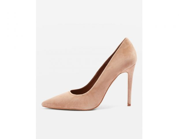 Pumps nude in suede