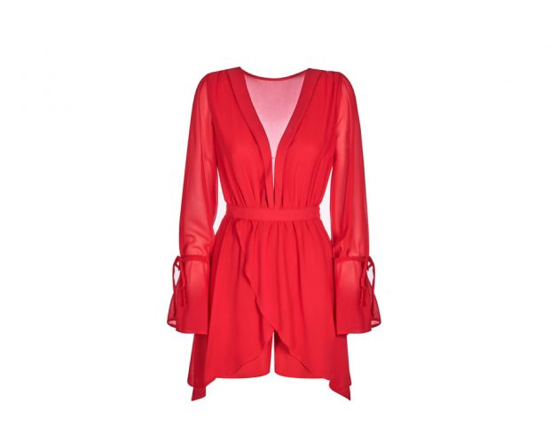Wrap dress rosso