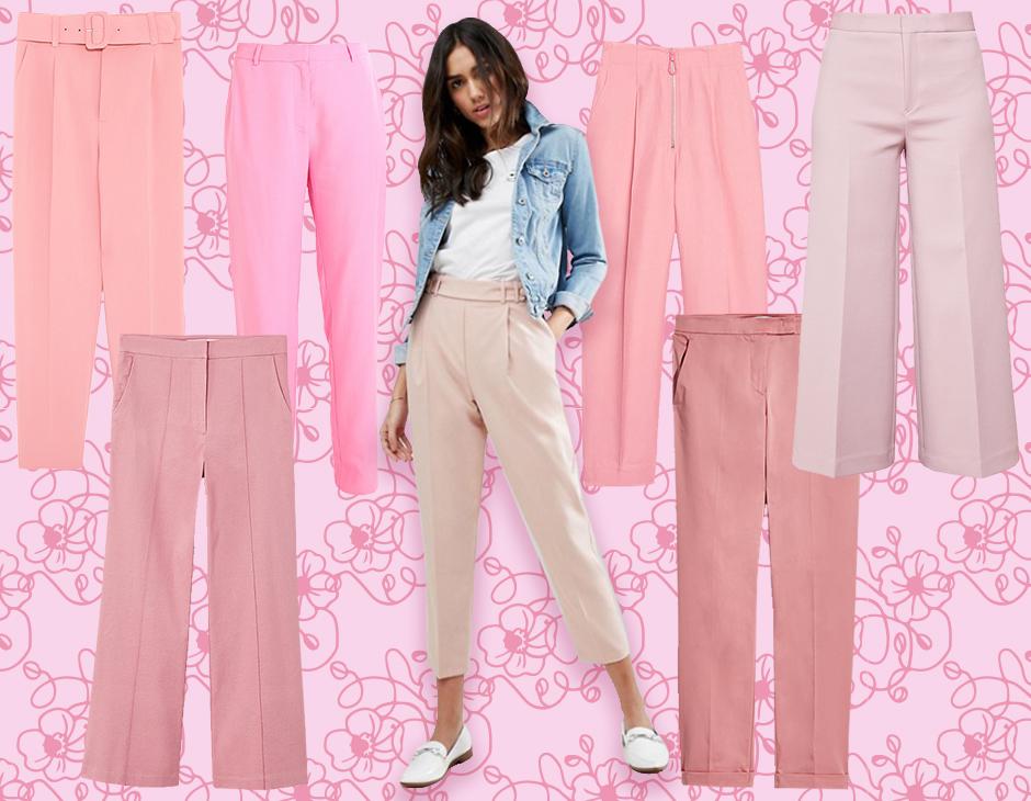I pantaloni rosa conquistano un posto d onore tra le tendenze della  primavera 2018. Sporty con coulisse in vita o elegantissimi e dal taglio  sartoriale 33f2798006f