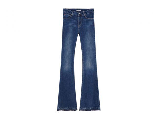 Jeans a zampa vita media