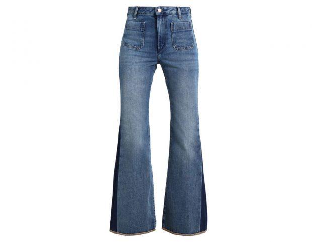 Jeans retrò a zampa