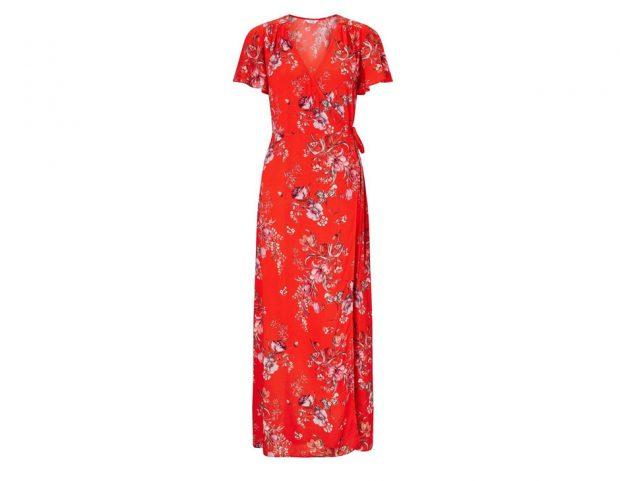 Wrap dress a fiori