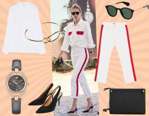 I jeans con banda laterale a contrasto? Indossali come Doutzen Kroes per un look super cool!