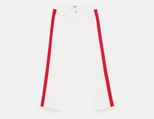 Jeans con banda laterale