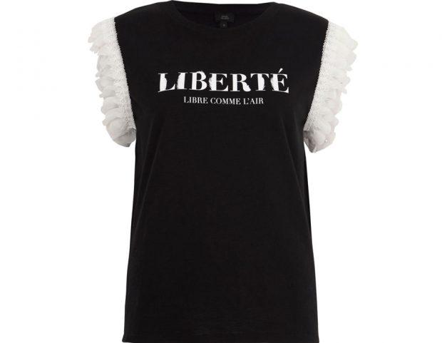 Black liberté T-shirt