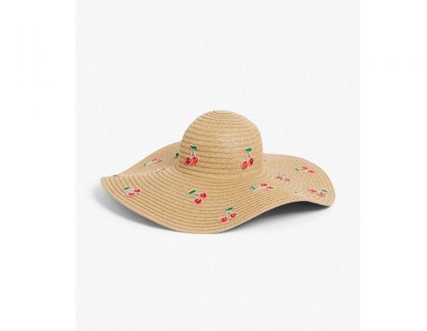 Cherry straw hat