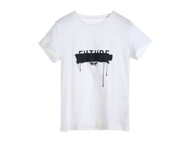 T-shirt con scritta