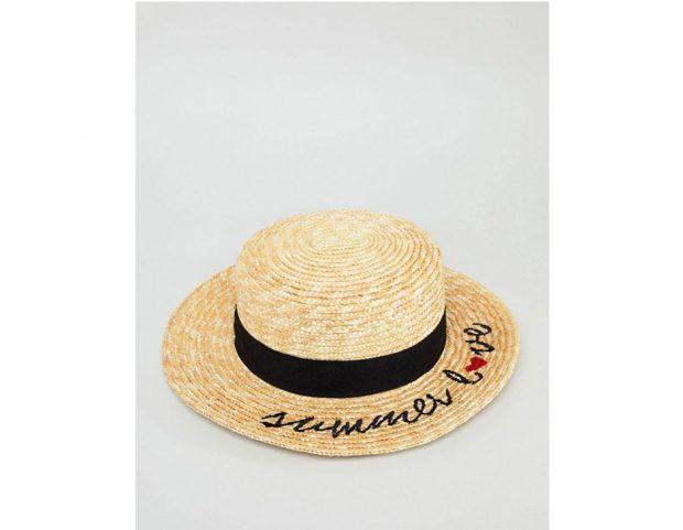 """Cappello di paglia con scritta """"Summer Love"""""""
