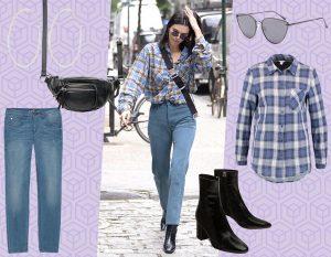 Camicia check, jeans e stivaletti: copia il look country-chic di Kendall Jenner