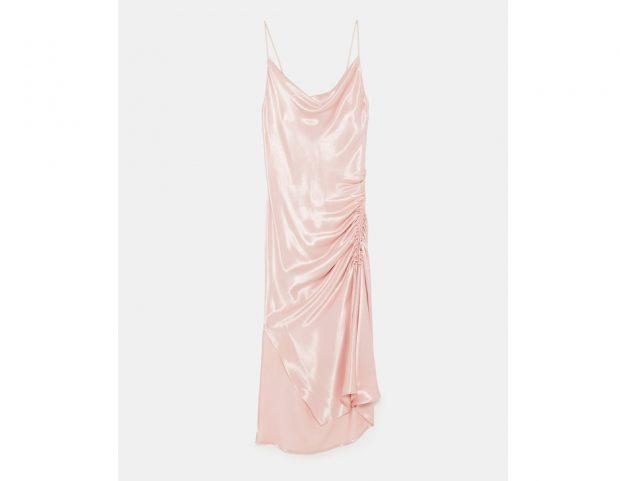 Vestito lingerie drappeggiato