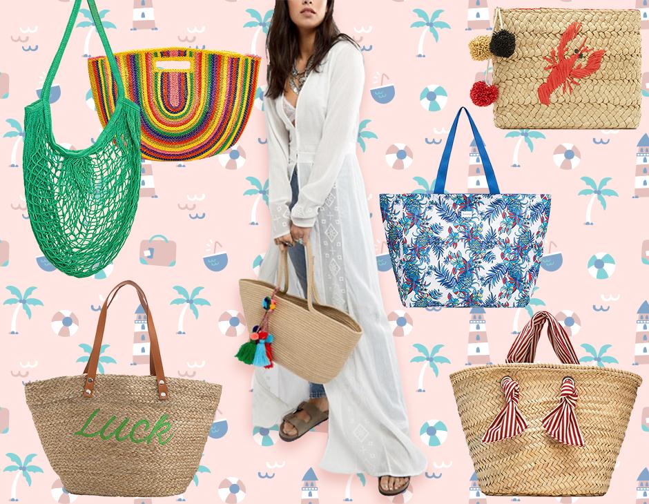 bff186b3878375 In paglia, in tela, a rete, allegre e coloratissime, oppure a tinta unita e  super chic: ecco le borse da spiaggia must dell'estate 2018!