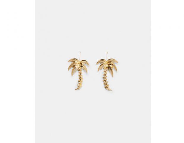 Orecchini con palme dorate