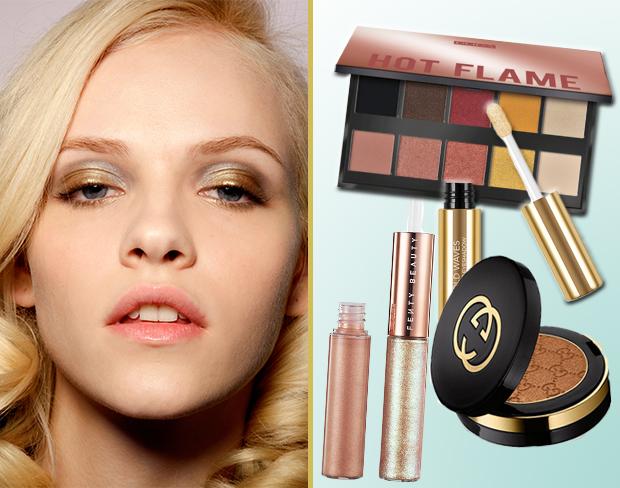 b9aefe24ac6b ... tu un trucco occhi metallizzato con gli ombretti oro, rame e bronzo  consigliati da TuStyle.it tra le novità più interessanti per il tuo makeup  estivo!