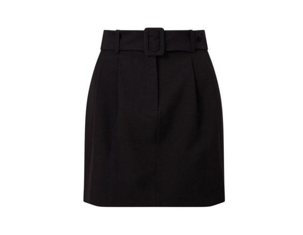 Minigonna con cintura in vita