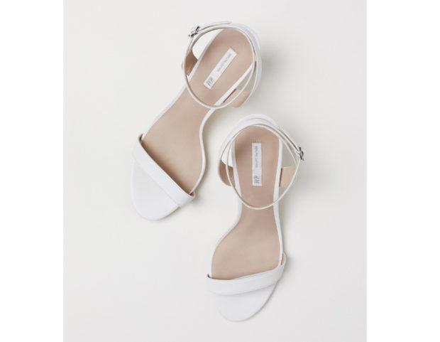 Sandali bianchi kitten heels