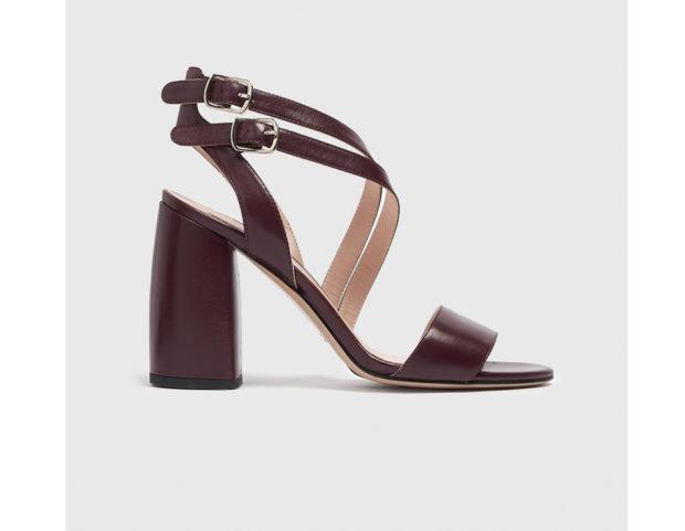 Sandali in pelle con doppio cinturino