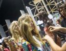 "Onde ""rotte"" voluminose da Elisabetta Franchi. Hair by Franco Gobbi per ghd. Photo credit: Francesca Merlo"