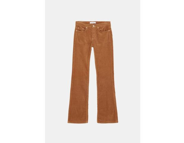 Pantaloni in fustagno flare