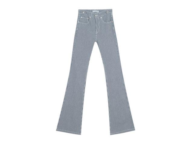 Pantaloni flare a righe
