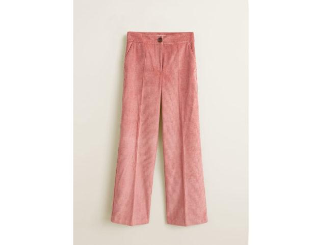 Pantaloni flare di velluto a coste