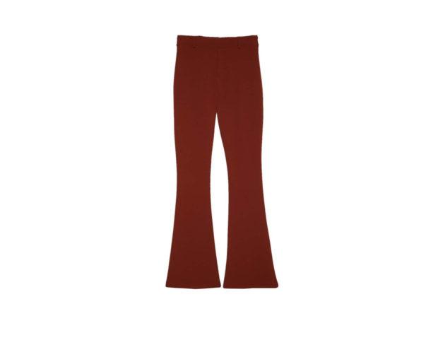 Pantaloni flare in maglia a tinta unita