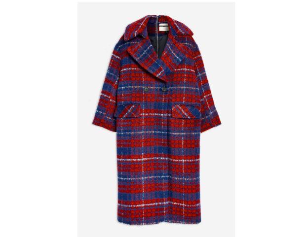 Cappotto in tartan con zip posteriore