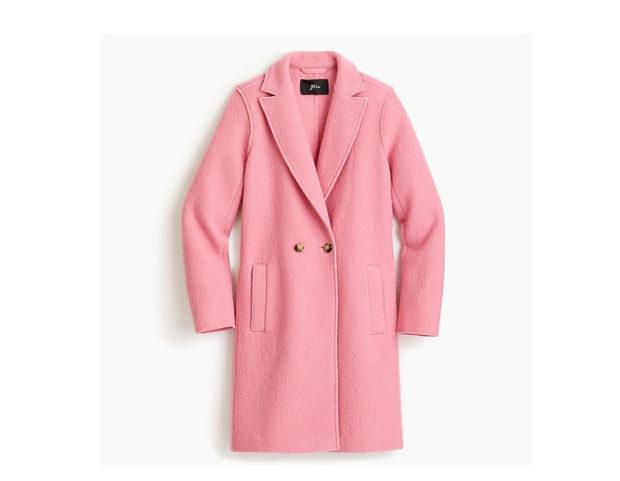 Cappotto a doppiopetto rosa confetto