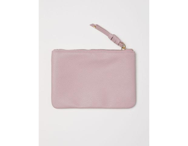 Mini pochette color rosa antico
