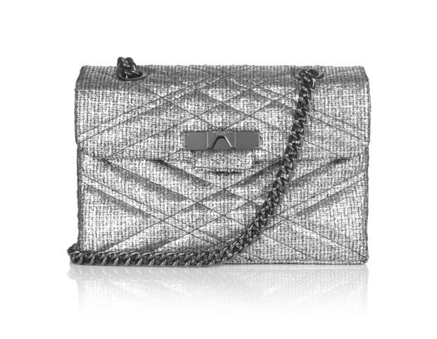 Borsa in tweed metallizzato