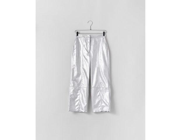 Pantaloni culotte argentati