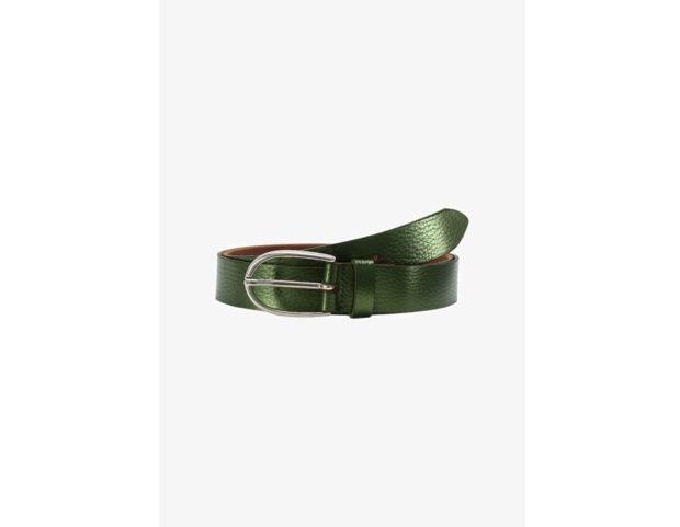 Cintura verde metallizzato