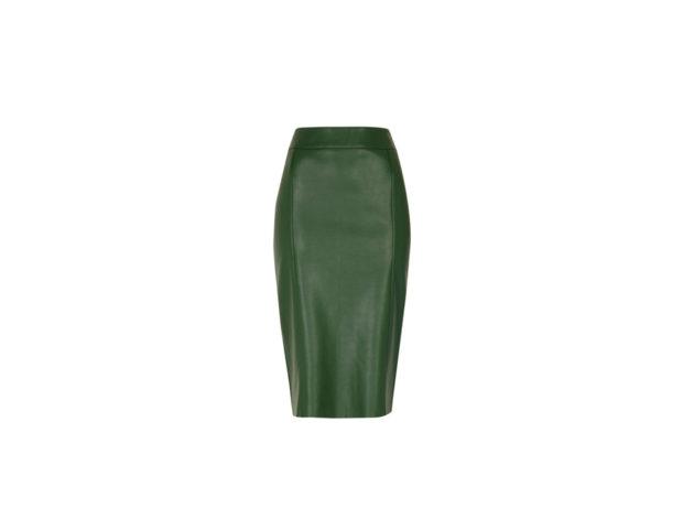 Pencil skirt in ecopelle