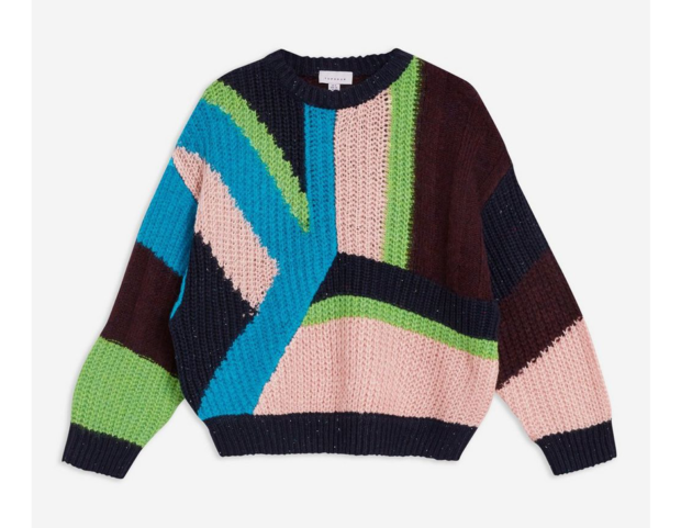 Pullover color-block