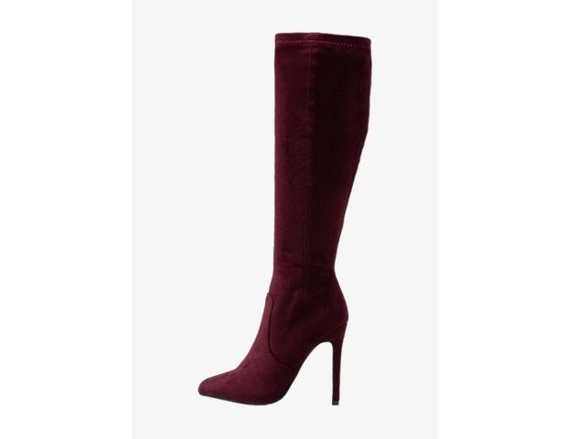 Stiletto al ginocchio color burgundy