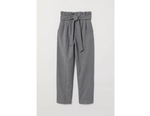 Pantaloni vita alta a sacchetto