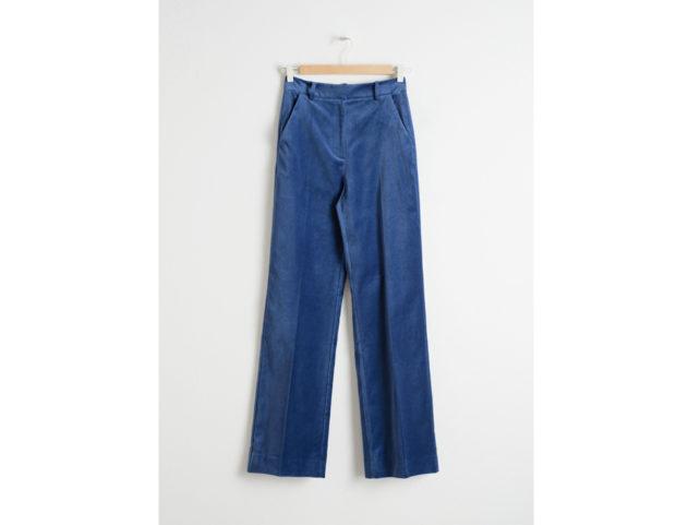 Pantaloni a vita alta in velluto
