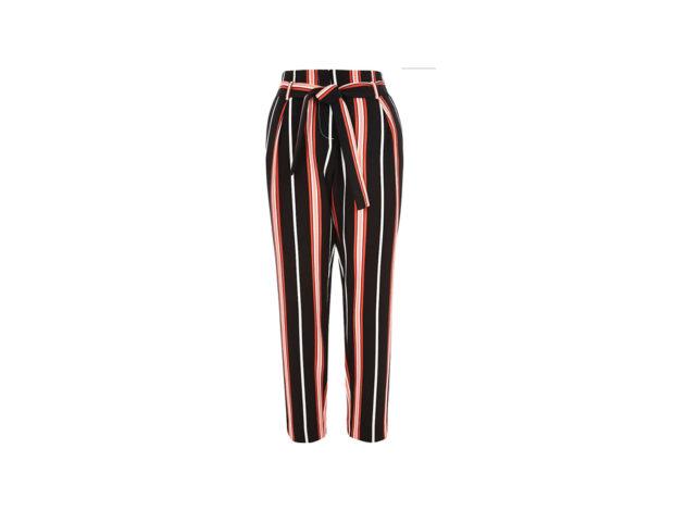Pantaloni a righe a vita alta