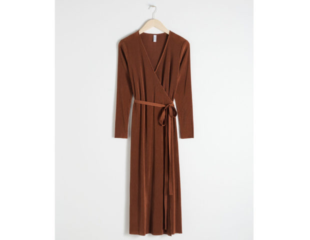 Midi dress plissé