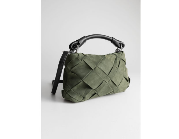 Braided Suede Crossbody Bag