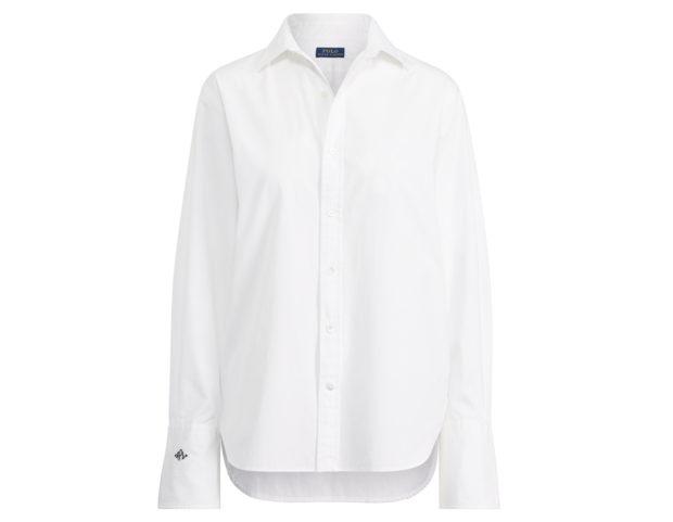 Camicia button-down con monogramma