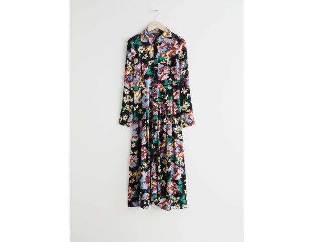Printed Flared Shirt Dress