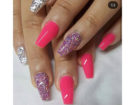 Nail art fluo e glitter
