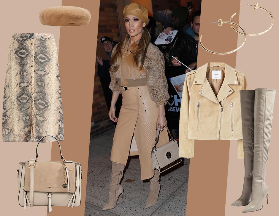 Jennifer Lopez ci regala un suggerimento prezioso con il suo look giocato  sulle nuance di beige e tortora  lasciati ispirare anche tu! b6a53c4a40f