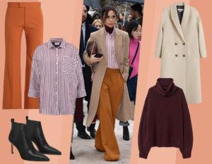 Camicia a righe e pantaloni flare: copia il look rilassato e chic di Victoria Beckham