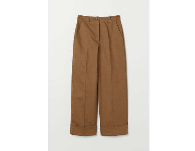 Pantaloni ampi in twill