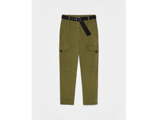 Pantaloni militari con cintura