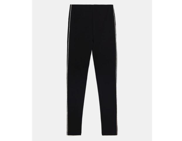 Pantaloni con banda laterale